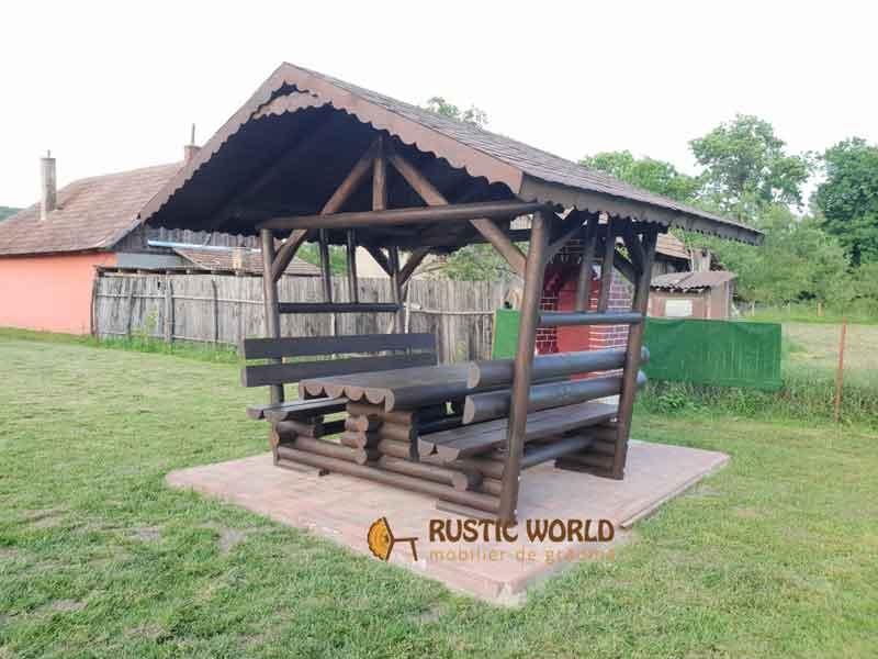 Foisor Din Lemn Rotund 2m Mobilier Rustic De Gradina Rustic World